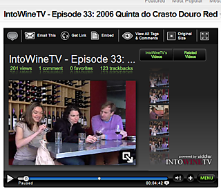 Viddler.com - IntoWineTV - Episode 33- 2006 Quinta do Crasto Douro Red - Uploaded by IntoWineTV_1211459454250
